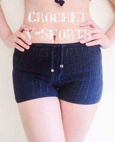 Crochet shorts step by step tutorial. #freecrochetpattern #crochetshorts