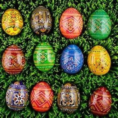 Shop Ukrainian Wooden Eggs, Buy 12 Ukrainian Geometric Wooden Easter Eggs in Assortment. Visit us!