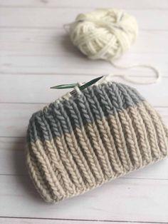 Free Fisherman's Rib Hat Knitting Pattern - French Press - Whimsy North Beanie Knitting Patterns Free, Beanie Pattern Free, Knit Patterns, Free Knitting, Circular Knitting Patterns, Headband Pattern, Knitting Hats, Knit Headband, Knit Hats