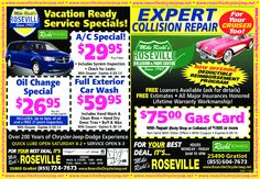 Does your car need to be serviced? We have specials this month to help you save.