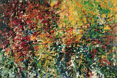 Jean Paul Riopelle, Hommage à Robert le Diabolique, 1953, huile sur toile, 200 x 282 cm