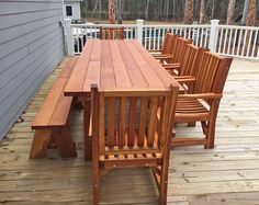 San Francisco Patio Table Options 10 L 40 1 4 W Tabletop Redwood Ruth Chair Design Benches On One Side And Chairs The Other Ends