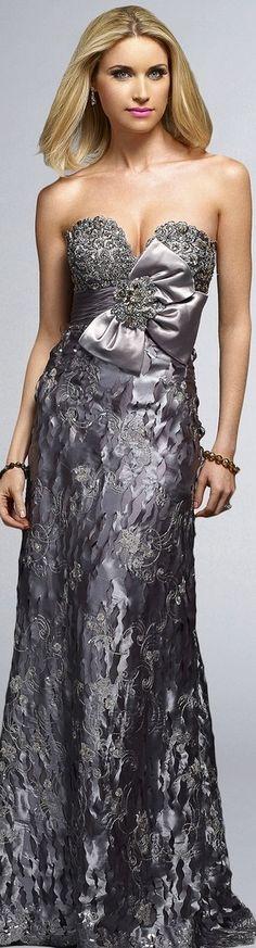 Silver-toned Sparkling Gown   LBV ♥✤   KeepSmiling   BeStayElegant