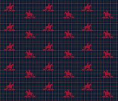 Traditional Foxhunt Plaid fabric by ragan on Spoonflower - custom fabric