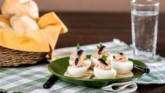 Stuffed Eggs with Pate Panna Cotta, Pudding, Stuffed Eggs, Ethnic Recipes, Desserts, Food, Deviled Eggs Recipe, Tailgate Desserts, Dulce De Leche