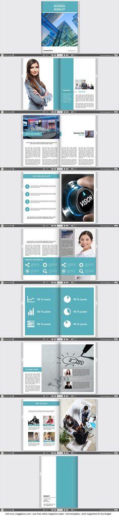 Business-brochure gratis online maken en goedkoop afdrukken onder https://nl.magglance.com/brochure/brochure-maken #brochure #sjabloon #design #motief #voorbeeld #template #bedrijfstijdschrift #layout #samenstellen #ontwerpen #cover
