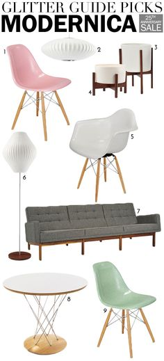 Our Favorite Pieces from Modernica AND a Giveaway! | theglitterguide.com