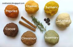 """Homemade Herb & Spice Play Dough from Craftulate ("""",)"""