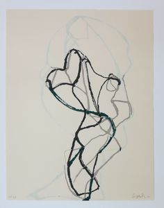 Brice Marden woodcut print
