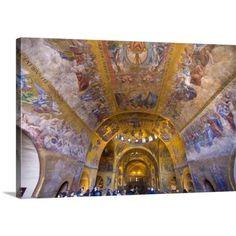 Great BIG Canvas Jim Zuckerman Premium Thick-Wrap Canvas entitled Italy, Venice. Interior of St. Marks Cathedral #italianinteriordesign