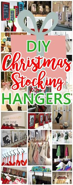 Cheap and Easy Do it Yourself Christmas Stocking Hangers and Clever Ideas, Tutorials and Ways to Display Stockings even without a mantel for the holidays! Dreaming in DIY #diystockinghangers #stockinghangers #christmasstockinghangers #diychristmasstockinghangers #christmasdecorations