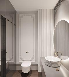Minimalist Bathroom Design, Bathroom Interior Design, Neoclassical Interior Design, Classic Toilets, Modern Classic Interior, Bathroom Decor Pictures, Art Deco Bathroom, Toilet Design, Classic Bathroom