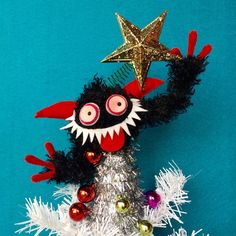 $42 tree top Krampus. click here to purchase!! #krampus #kitchmas #treetopper #etsy