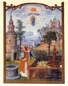 It's About Time: 1490 Euro Garden - illuminated Manuscript