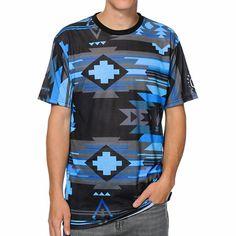 Neff x Mac Miller Tribal Print Sublimated Blue T-Shirt d19155c89310