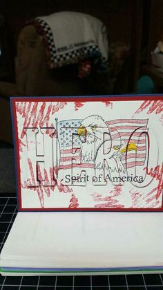 4th Of July Fireworks, Fourth Of July, Military Cards, Fun Cards, Big Words, Large Letters, Veterans Day, Big Shot, Stampin Up Cards