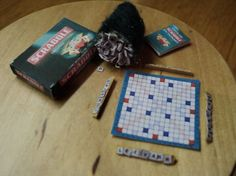DOLLS HOUSE MINIATURES  SCRABBLE by LittleHouseAtPriory on Etsy, $11.50