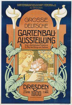 Poster design for 'Die Grosse Deutsche Gartenbau-Austellung /...