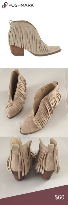 fc56020a361a Matisse Ivory Fringed Booties The color of these boots is ivory. They have  a 3