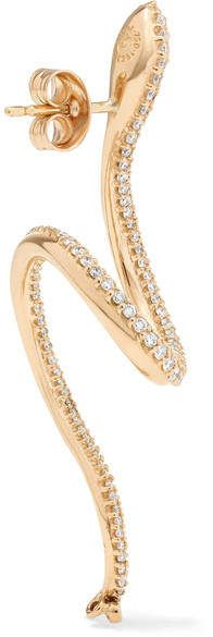 Gold Diamond Earrings, Copenhagen, Ear Piercings, Snake, Product Launch, Jewelry, Schmuck, Jewlery, Jewerly