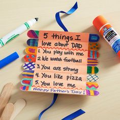 Father's Day Crafts for Kids Preschool, Elementary and More! is part of Wood crafts Sticks - Father's Day Crafts for Kids Fathers Day Preschool Ideas, Elementary Ideas and More on Frugal Coupon Living Gifts for Dad Diy Father's Day Gifts, Father's Day Diy, Gifts For Dad, Fathers Day Presents, Fathers Gifts, Grandpa Gifts, Craft Stick Crafts, Craft Gifts, Craft Sticks