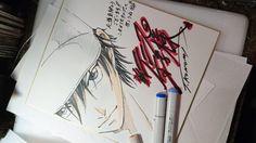 Prince of Tennis dessin sur #Shikishi du #Mangaka #TakeshiKonomi coloriage #Feutre #Copic sketch #Colorisation