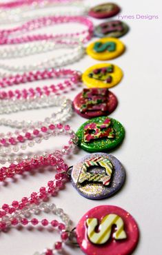 Kids DIY Clay Initial Jewelry - FYNES DESIGNS