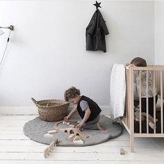 linen playmat in this beautiful space ♡ thank you @inblckandwht xx  #catsandboysbedding #playmat #linen