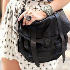 #proenzaschouler black with black hardware