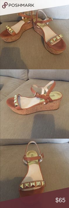 0a743d3af67f Shop Women's MICHAEL Michael Kors Brown Gold size 8 Wedges at a discounted  price at Poshmark.