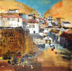 Dart Gallery offers a fresh selection of contemporary British art by established artists at its space in the heart of beautiful Dartmouth, Devon. Port Isaac, Dartmouth, Blank Canvas, Landscape Illustration, Pattern Art, Tanzania, Digital Photography, Mixed Media Art, Collage Art