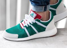 ADIDAS EQT SUPPORT BOOST 93/17 WHITE / TURBO RED