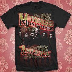 America Black T-Shirt : Motionless In White