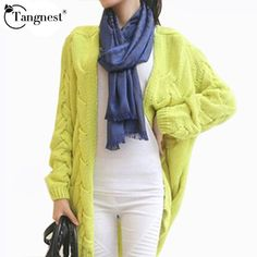 Blusas De Inverno Hot Autumn Winter Knitted Cardigan Women's Casual Long Sweater 4 Candy Colors WZL275