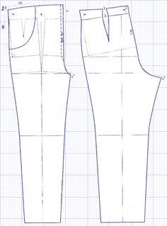Выкройки для беременных - брюки