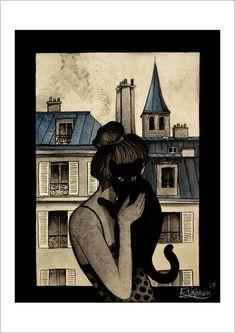 El gato negro de París