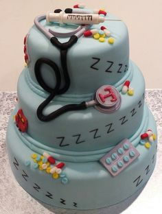 Anesthesiology Grad Cake By: Cheryl's Home Kitchen. Find us on FaceBook.