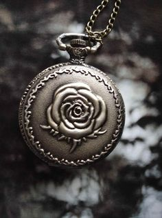 SALE 10  OFF Rose Flower Bronze Pocket Watch by Azuraccessories, $5.00