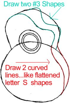 how to draw a cartoon guitar step by step