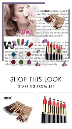 """Newchic.com 46"" by bebushkaj ❤ liked on Polyvore featuring beauty and Lumière"
