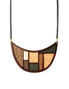 Pieces Wooden Bib Necklace