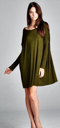 "COMING SOON: ""Alpha Bravo"" olive green PIKO dress. #shop #comfy #military"