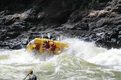 White Water Rafting at it's finest -- FLIP! Rafting, Safari, Boat, River, Dinghy, Boats, Rivers, Ship