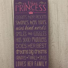 "Full text reads, ""a true Princess cleans her room, shares her toys, uses kind…"