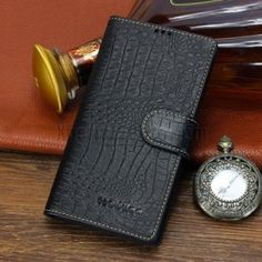 http://www.gajetto.nl , Wobilo Wild Crocodile Texture Genuine Leather Wallet Flip Cover Case for Xperia Z2 L50W Black ☺ ✿ ✿
