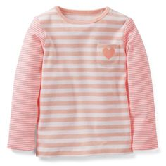 Carters Girls Mini Blues Long Sleeve Tee 24 Months Pink Stripe * You can get additional details at the image link.