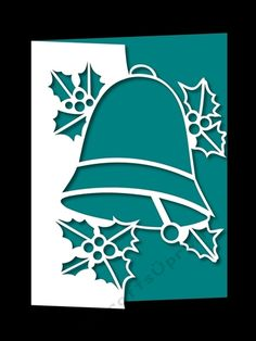 CHRISTMAS BELL AND HOLLY OVER THE EDGE by Apetroae Stefan With optional backing plate