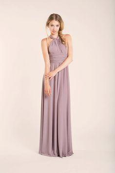 a1f1b8bb5ed Dusty pink bridesmaid dress Dusty rose long infinity by mimetik Dusty Rose  Maxi Dress