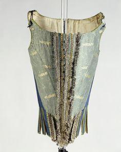 Wool, silk and linen corset:1671 - 1680