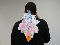 Renata Rosa > Tormento poético, 2014 (Papel veludo, tinta nanquim, impressos, cola).